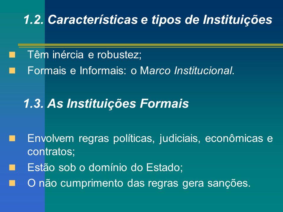 1.2. Características e tipos de Instituições