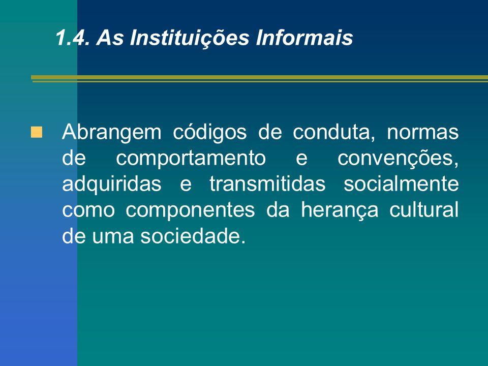 1.4. As Instituições Informais
