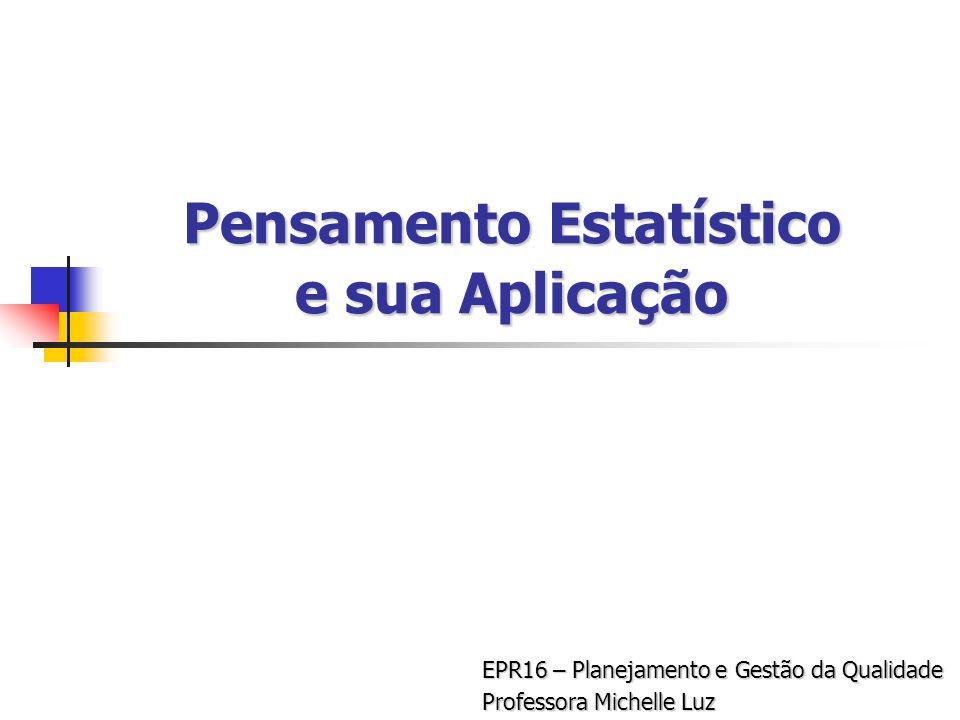 Pensamento Estatístico e sua Aplicação