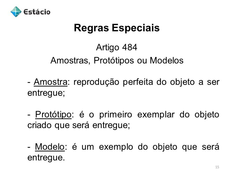 Amostras, Protótipos ou Modelos