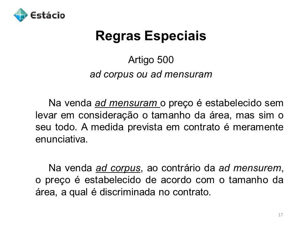 ad corpus ou ad mensuram