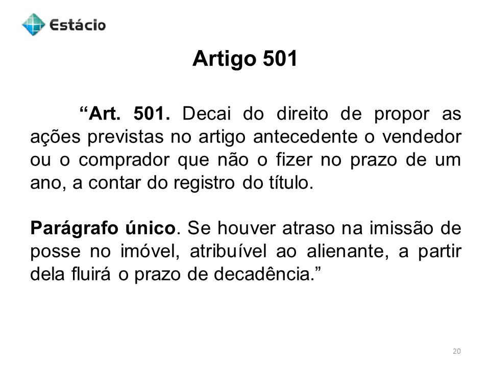 Artigo 501