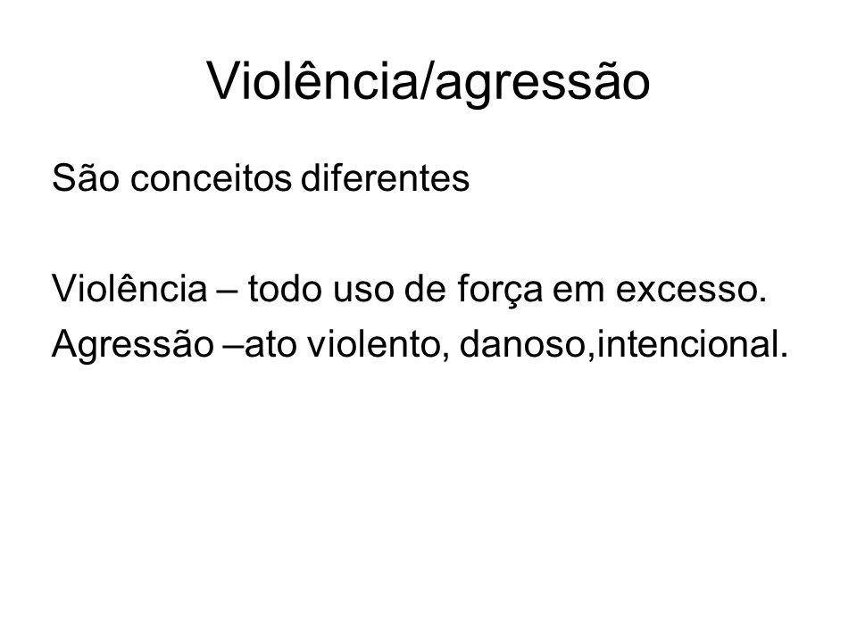 Violência/agressão São conceitos diferentes
