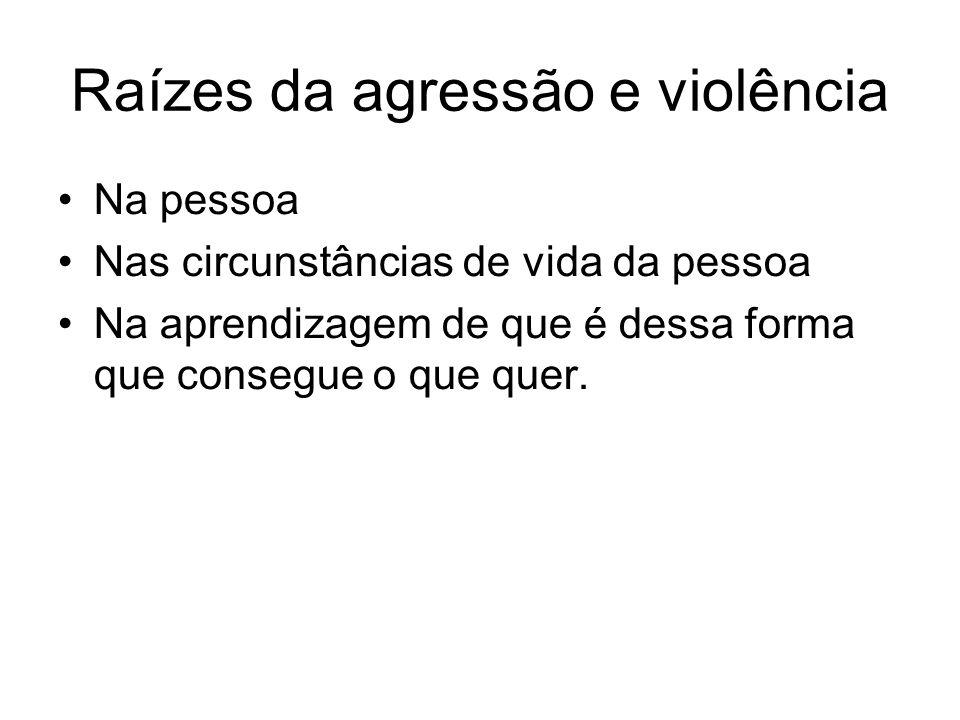Raízes da agressão e violência