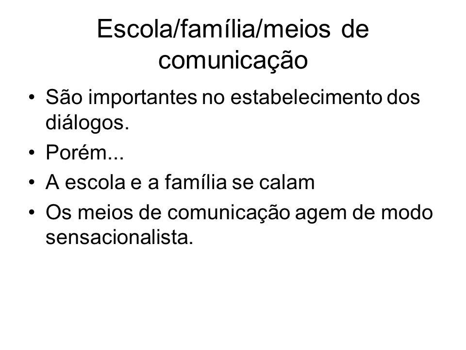Escola/família/meios de comunicação