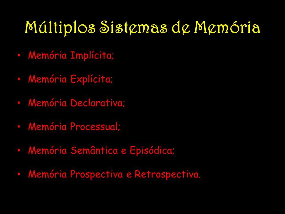Múltiplos Sistemas de Memória