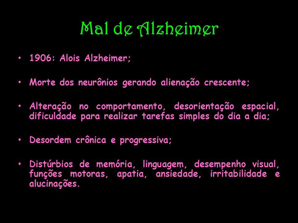 Mal de Alzheimer 1906: Alois Alzheimer;