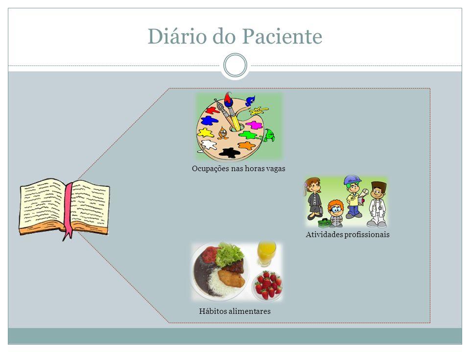 Diário do Paciente Ocupações nas horas vagas Atividades profissionais