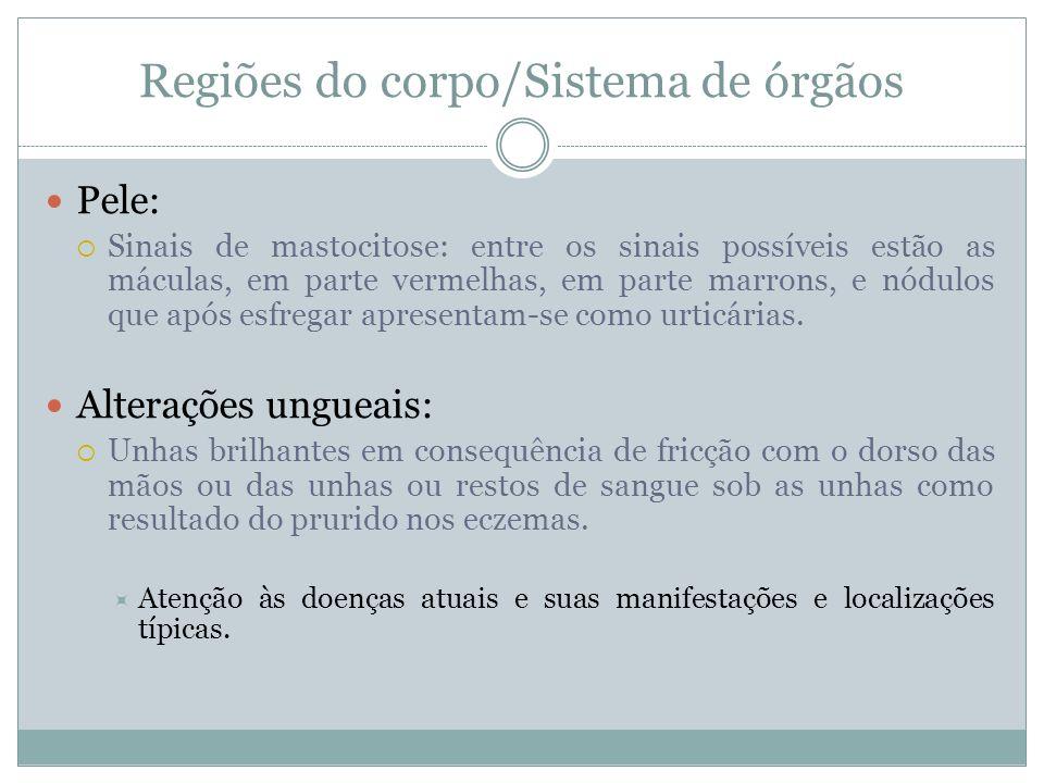 Regiões do corpo/Sistema de órgãos