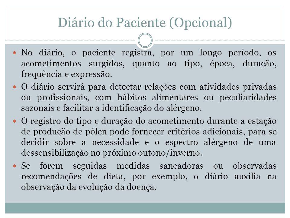 Diário do Paciente (Opcional)