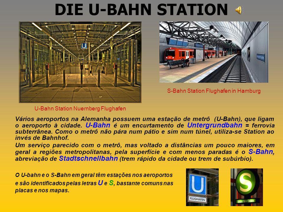 DIE U-BAHN STATION S-Bahn Station Flughafen in Hamburg. U-Bahn Station Nuernberg Flughafen.