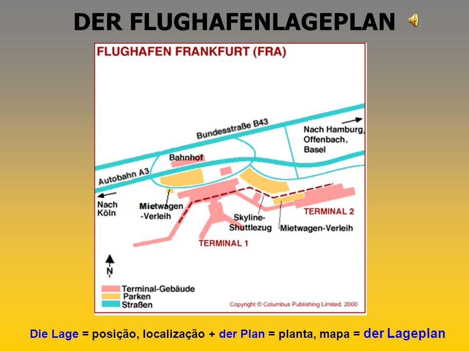 DER FLUGHAFENLAGEPLAN