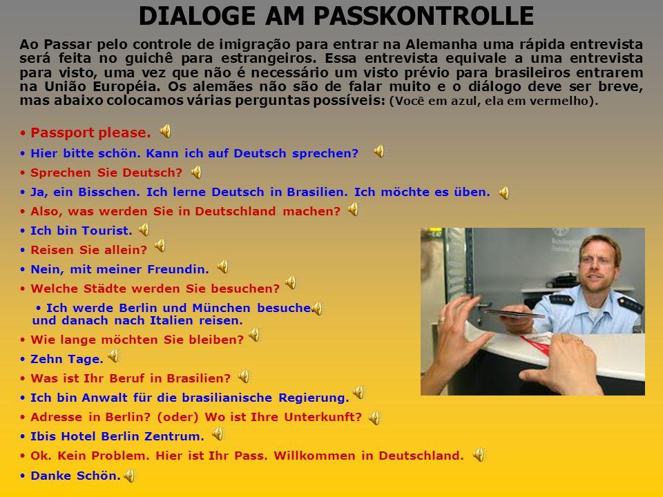 DIALOGE AM PASSKONTROLLE