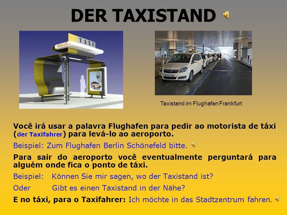 Taxistand im Flughafen Frankfurt