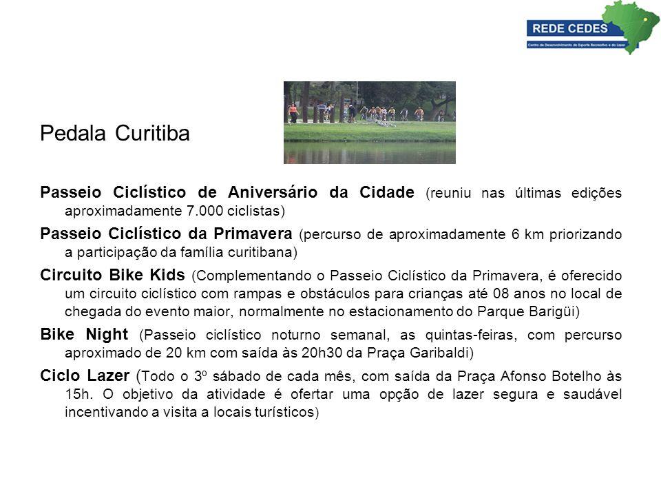 Pedala Curitiba Passeio Ciclístico de Aniversário da Cidade (reuniu nas últimas edições aproximadamente 7.000 ciclistas)