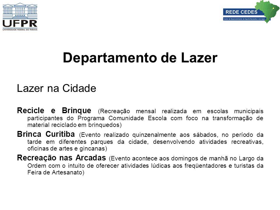 Departamento de Lazer Lazer na Cidade