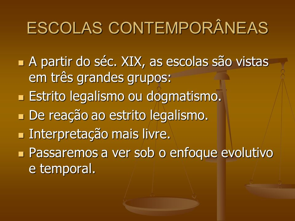 ESCOLAS CONTEMPORÂNEAS