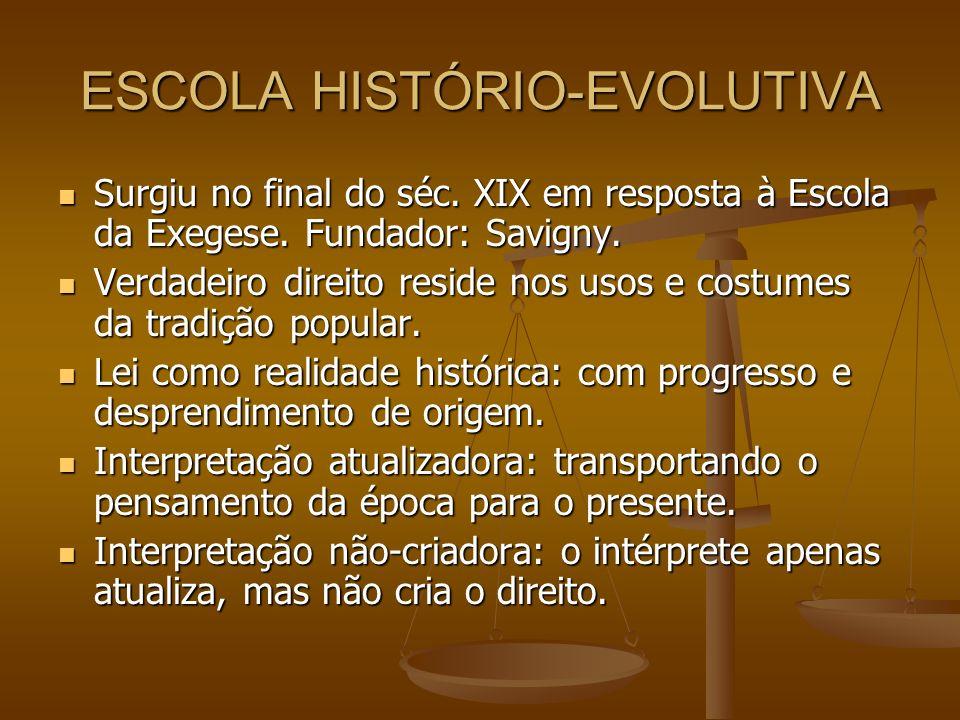 ESCOLA HISTÓRIO-EVOLUTIVA