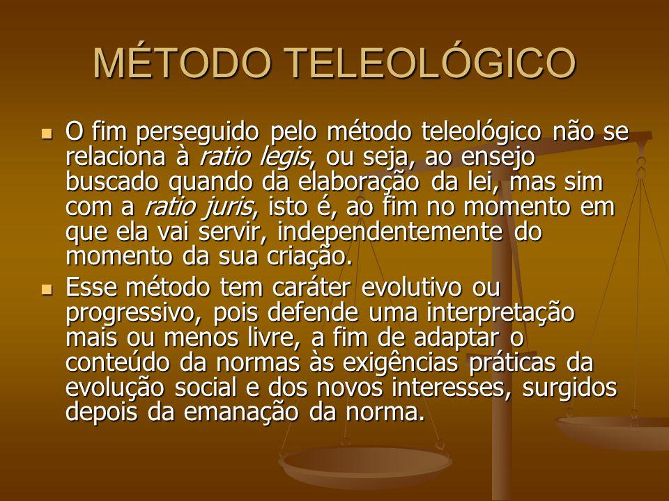 MÉTODO TELEOLÓGICO