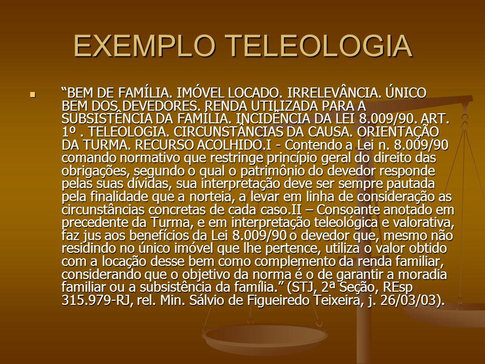 EXEMPLO TELEOLOGIA