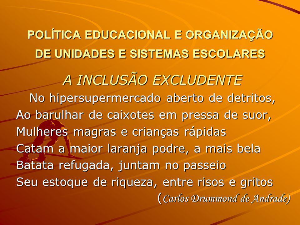 POLÍTICA EDUCACIONAL E ORGANIZAÇÃO DE UNIDADES E SISTEMAS ESCOLARES