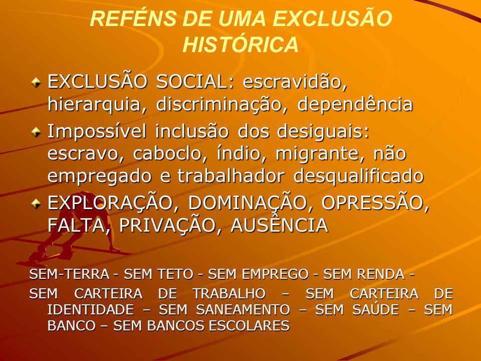 REFÉNS DE UMA EXCLUSÃO HISTÓRICA