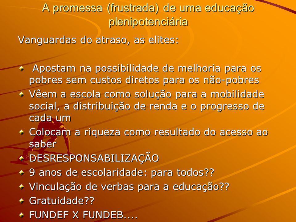 A promessa (frustrada) de uma educação plenipotenciária
