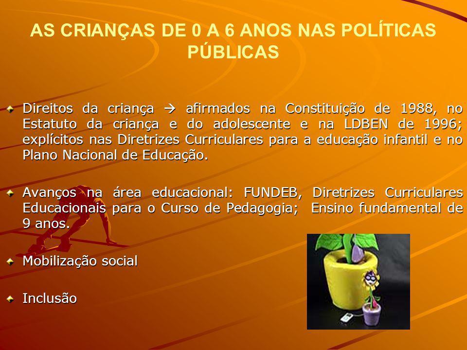AS CRIANÇAS DE 0 A 6 ANOS NAS POLÍTICAS PÚBLICAS