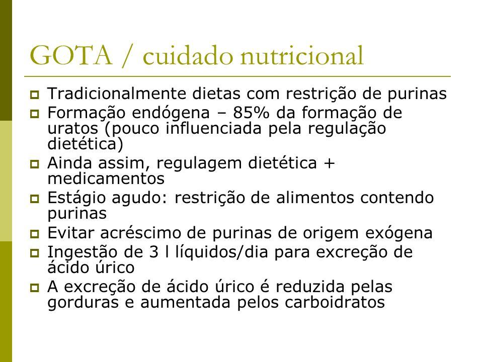 GOTA / cuidado nutricional