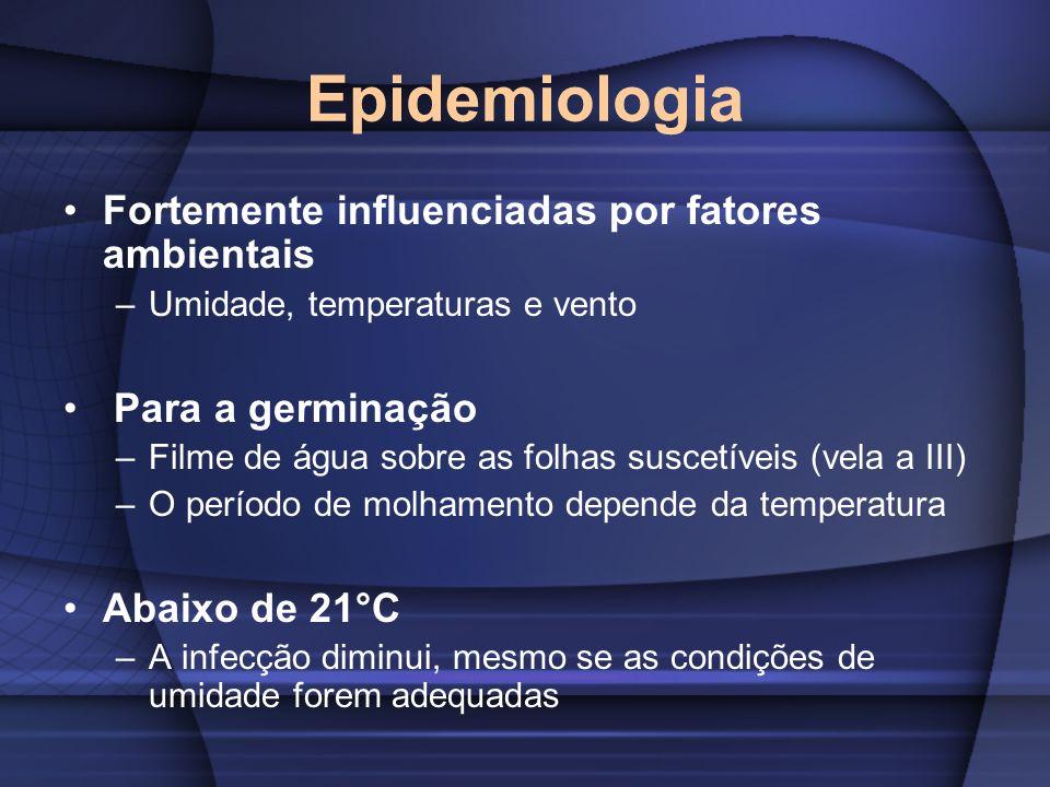 Epidemiologia Fortemente influenciadas por fatores ambientais