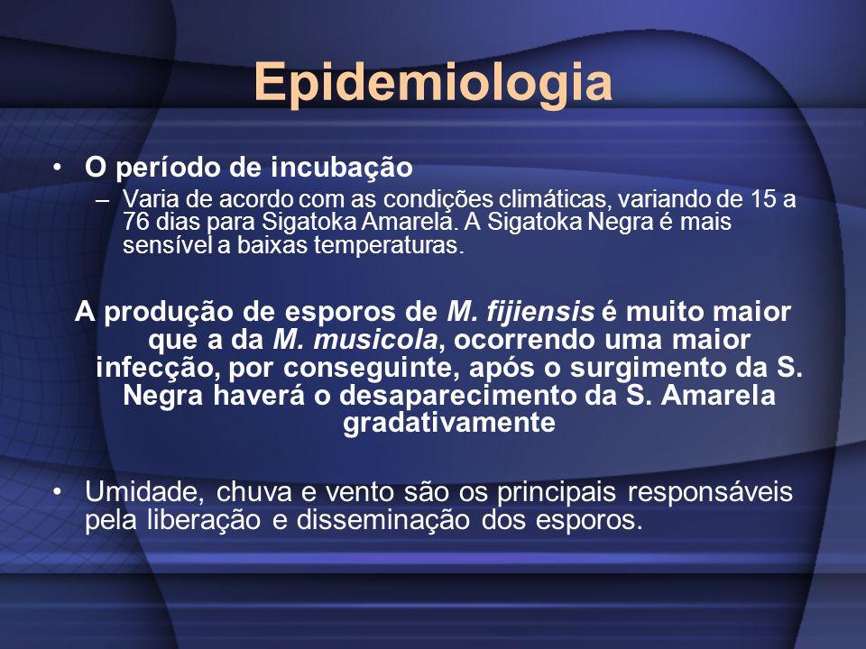 Epidemiologia O período de incubação