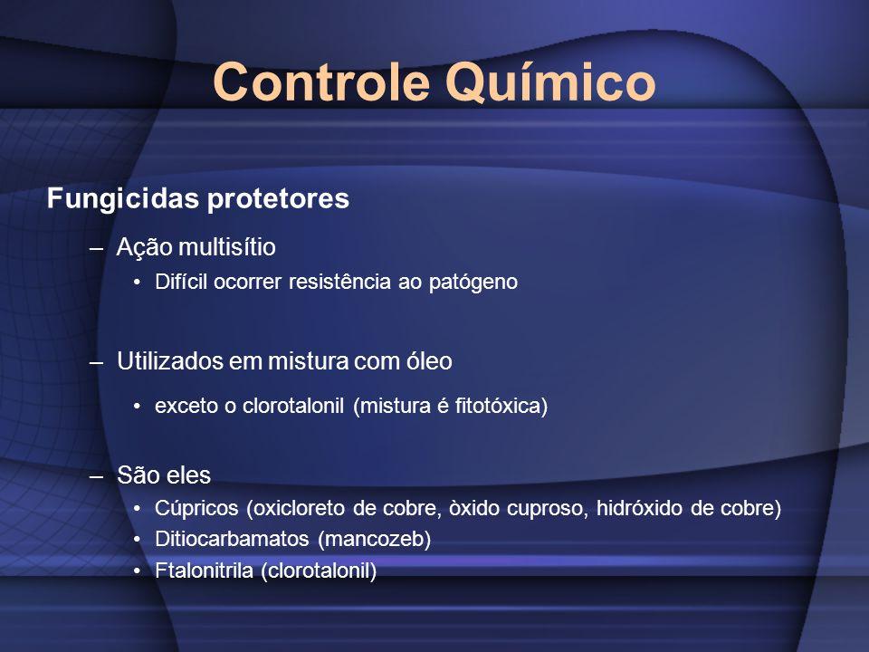 Controle Químico Fungicidas protetores Ação multisítio
