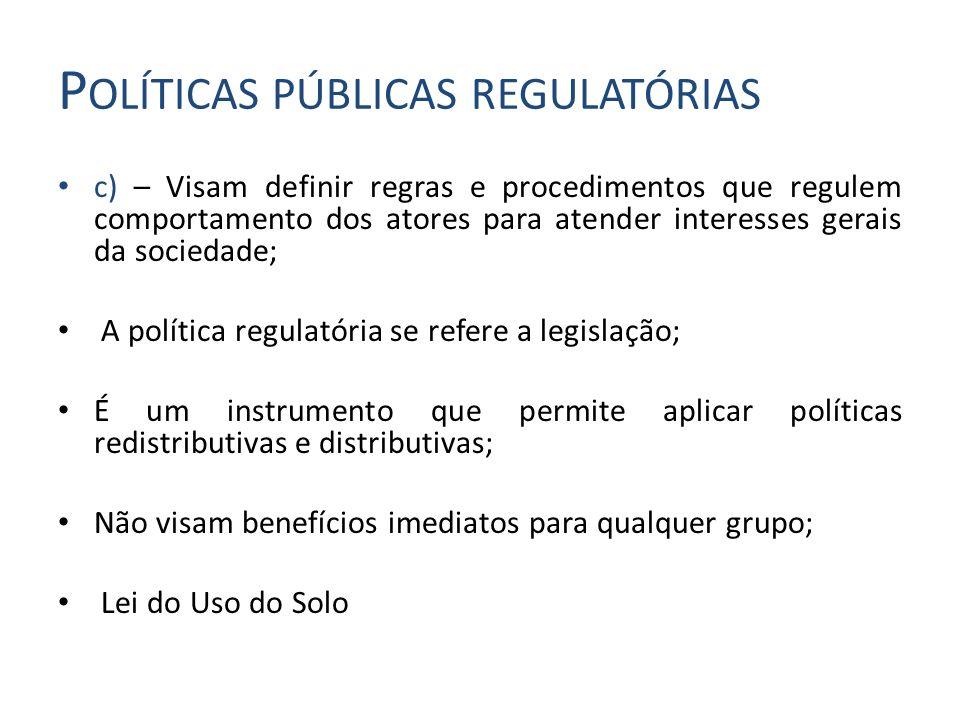 Políticas públicas regulatórias