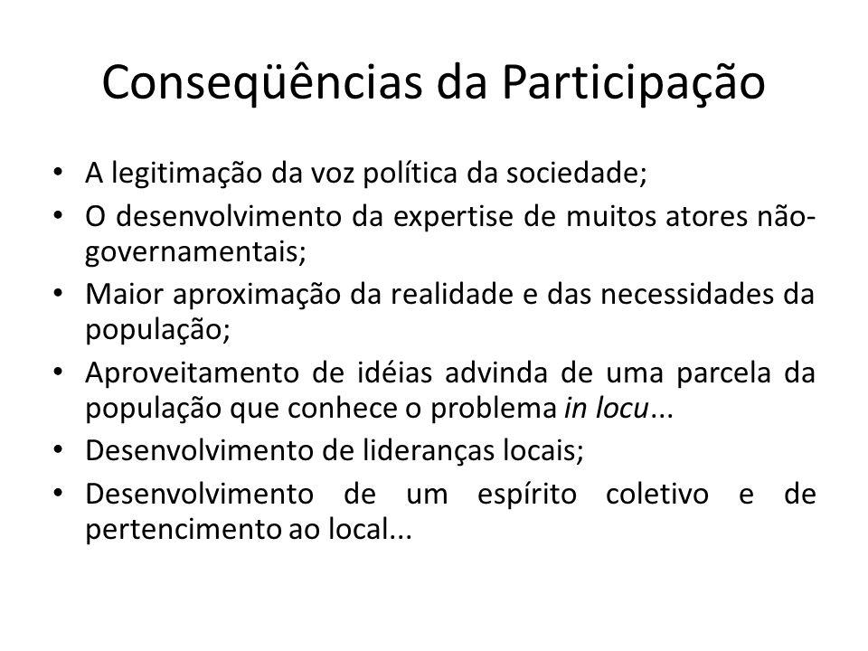 Conseqüências da Participação