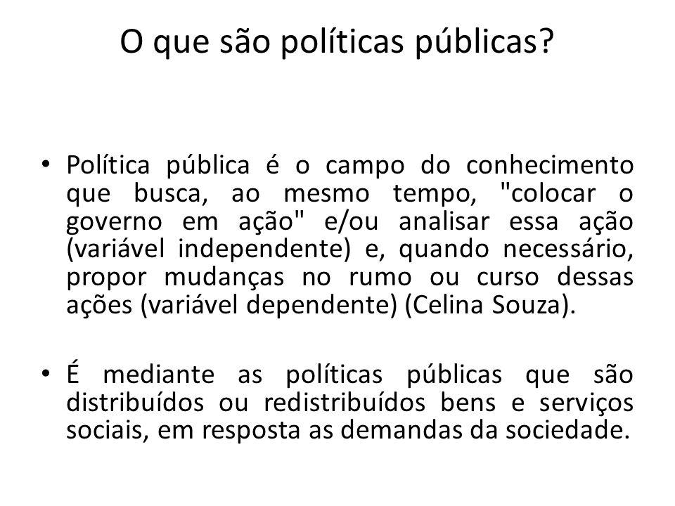 O que são políticas públicas
