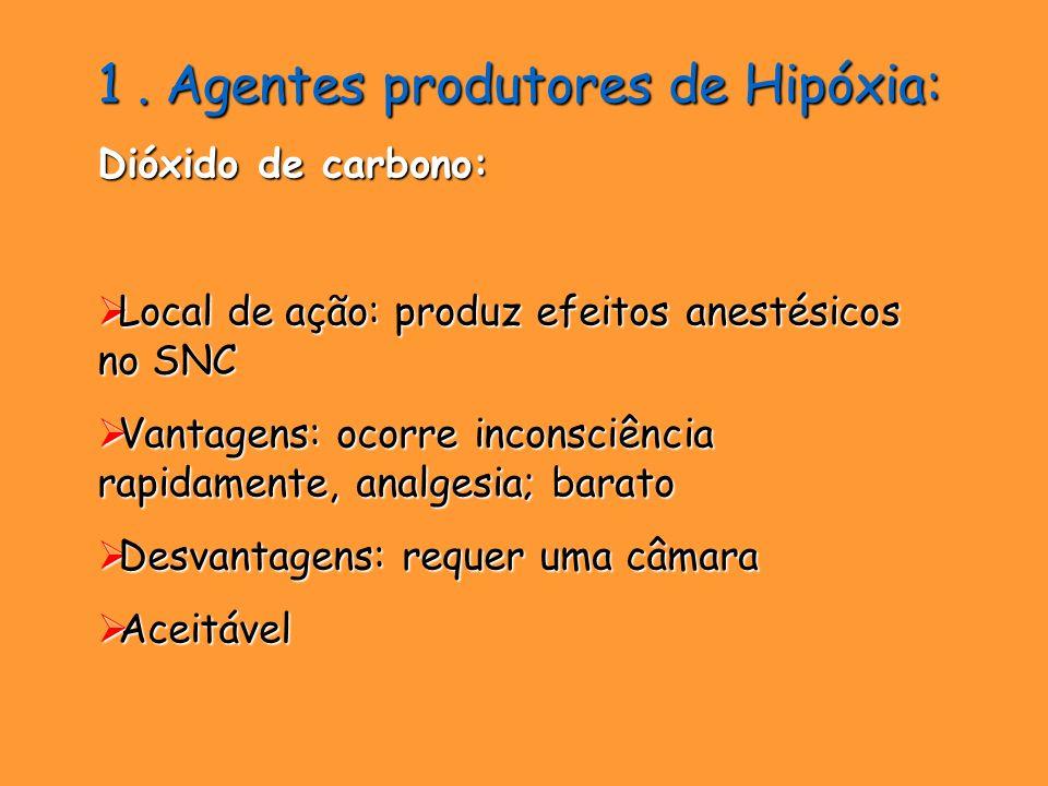 1 . Agentes produtores de Hipóxia: