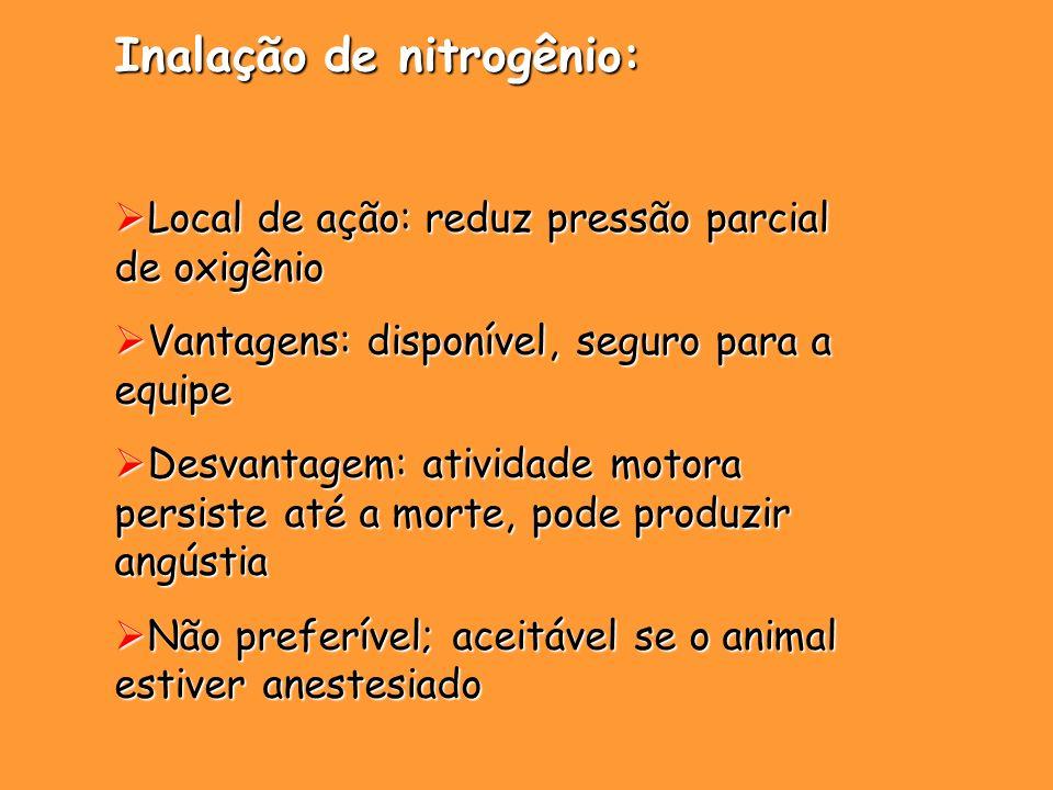 Inalação de nitrogênio: