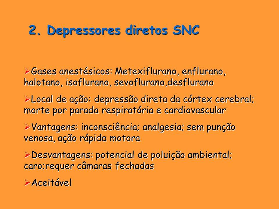 2. Depressores diretos SNC