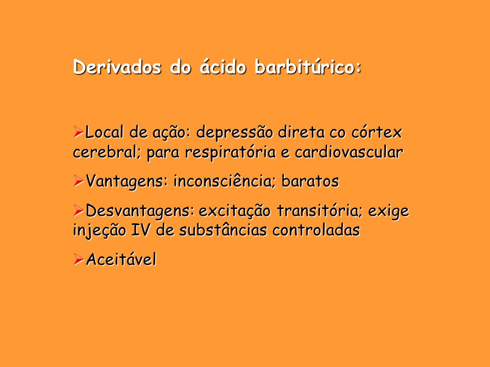 Derivados do ácido barbitúrico:
