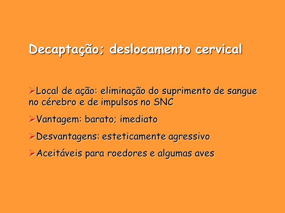Decaptação; deslocamento cervical