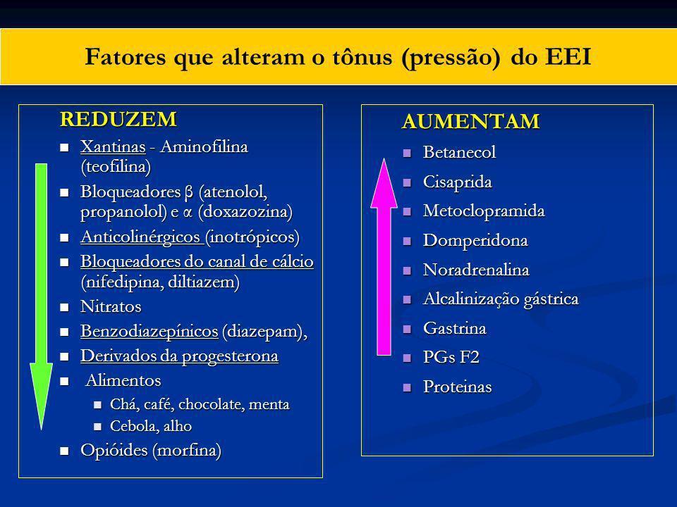 Fatores que alteram o tônus (pressão) do EEI