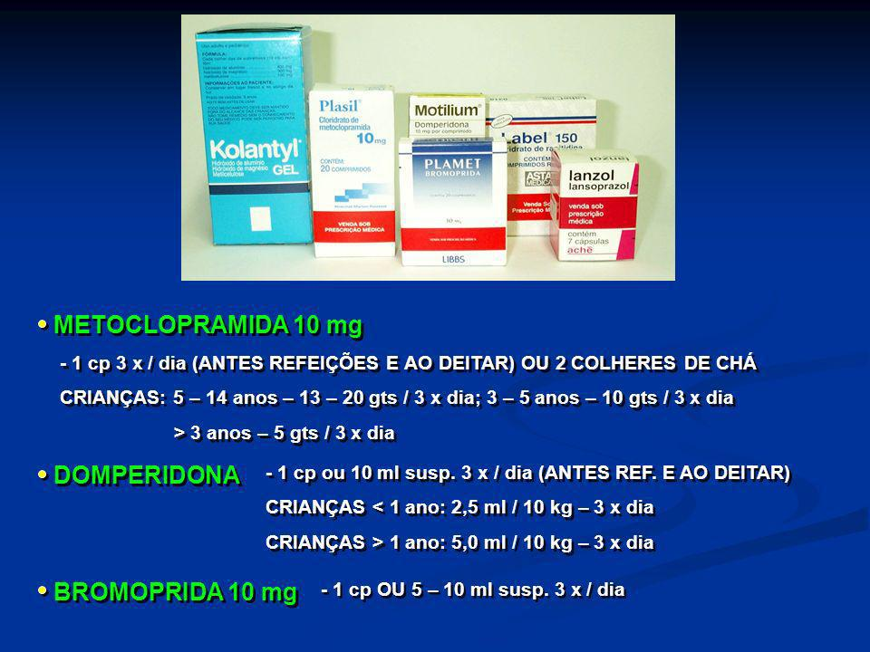 METOCLOPRAMIDA 10 mg DOMPERIDONA BROMOPRIDA 10 mg