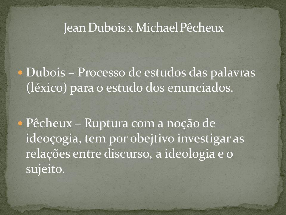 Jean Dubois x Michael Pêcheux
