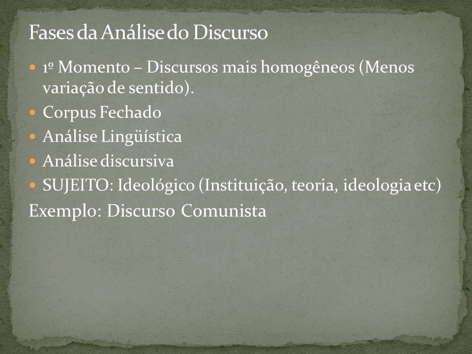 Fases da Análise do Discurso
