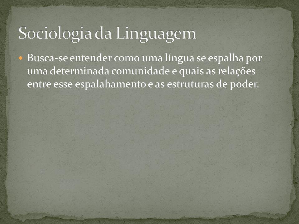 Sociologia da Linguagem