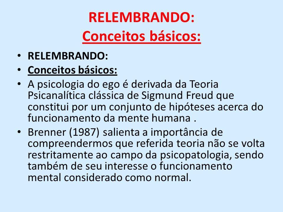 RELEMBRANDO: Conceitos básicos: