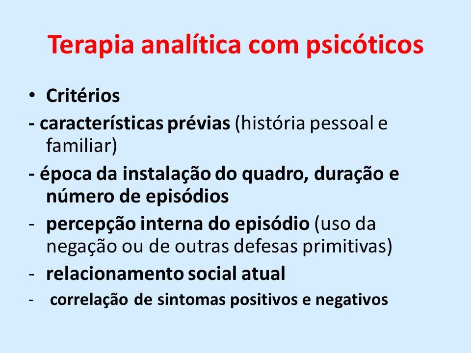 Terapia analítica com psicóticos