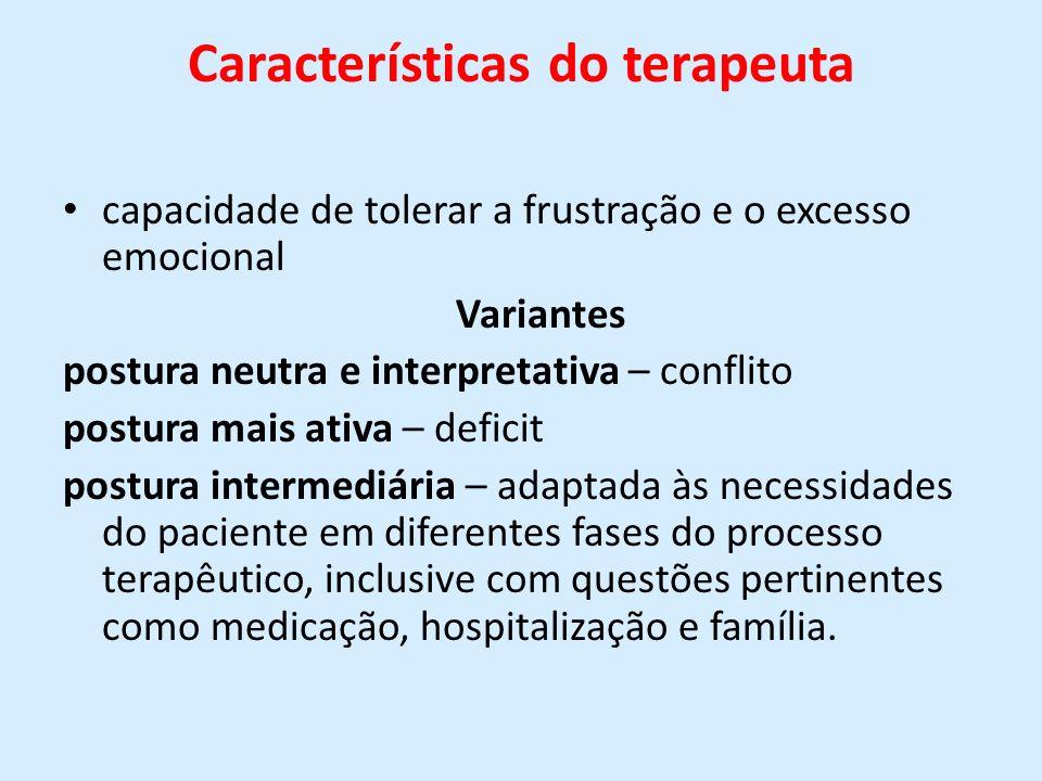 Características do terapeuta