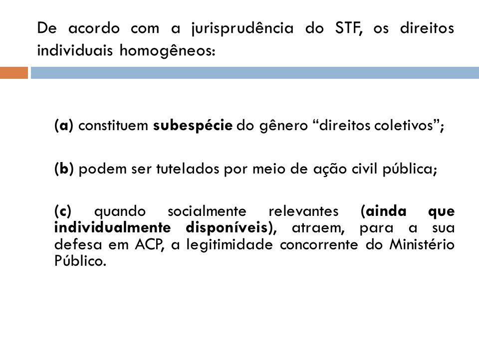 (a) constituem subespécie do gênero direitos coletivos ;
