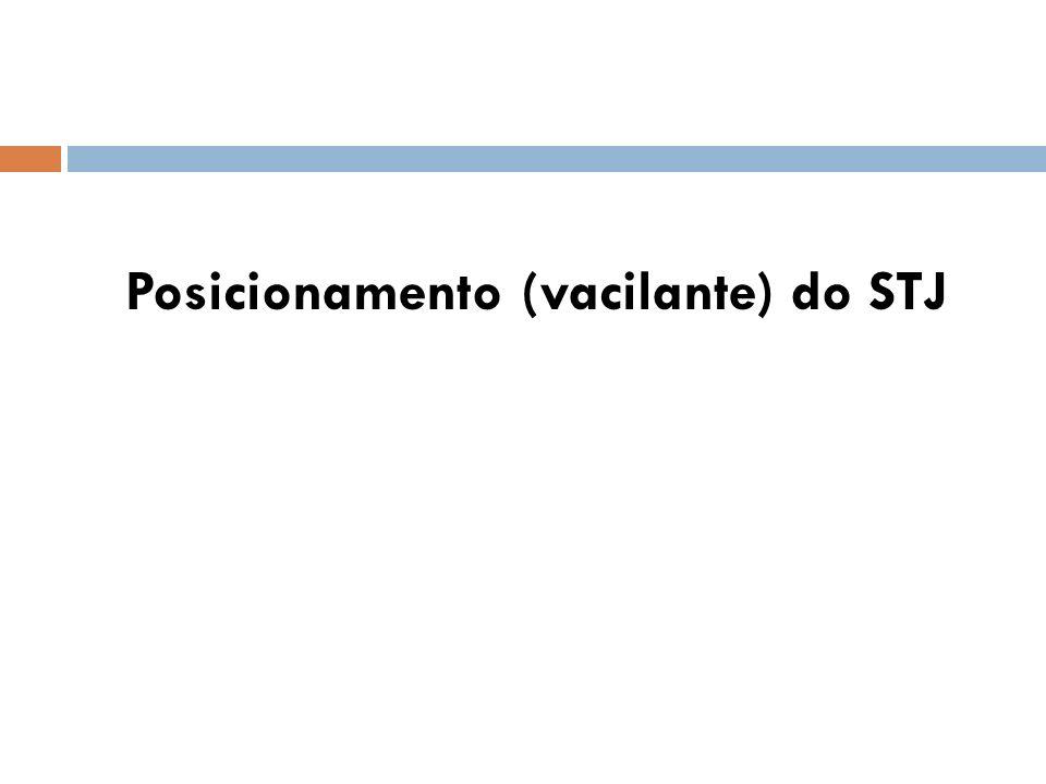 Posicionamento (vacilante) do STJ